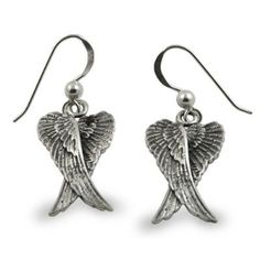 Angel Wings Lotus .925 Sterling Silver Pendant by Peter Stone Jewelry