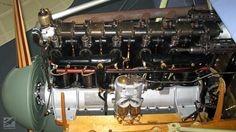 Original, restored Mercedes D.IIIa engine fitted to our third Albatros reproduction, The inlet manifold has a water jacket around it to warm up the fuel/air mixture entering the pistons Aircraft Engine, Work Horses, First World, Aviation, Engineering, Wings, Airplanes, Third, Military