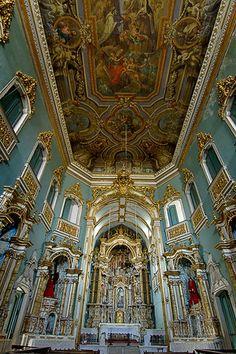 Bahia - Salvador - Igreja Ordem Terceira do Carmo,  vista por dentro