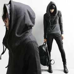 Men's Black // Brown // Light Grey Hoodies Hoody Winter Men 33520 ...