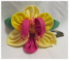 Spotted Yellow Orchid Hairclip by ImlothMelui on Etsy, $15.00