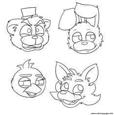 Effortless image pertaining to fnaf printable coloring pages