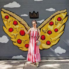 Pizza wings, the only wings I need! How To Stretch Shoes, How To Make Shoes, Chicago Murals, High Heel Protectors, Shoes Too Big, Old Shoes, Summer Maxi, Dream Shoes, Dress And Heels