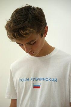 Louison Savignoni for Gosha Rubchinskiy SS16 lookbook.