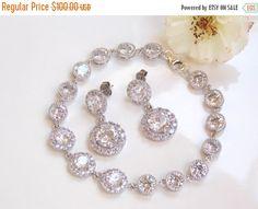 SALE Wedding Jewelry Sterling Silver Cubic by FlorBridalJewelry