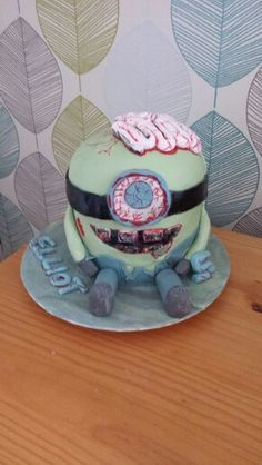 Zombie Minion cake :))