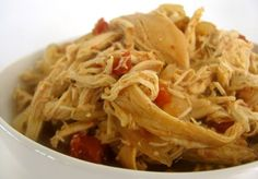 Shredded Chicken in the crockpot