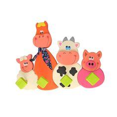 Appendiabiti cameretta bambini - Animali fattoria