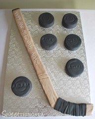 Hockey cake 3 #Hockey #cake #ahockeymomreviews