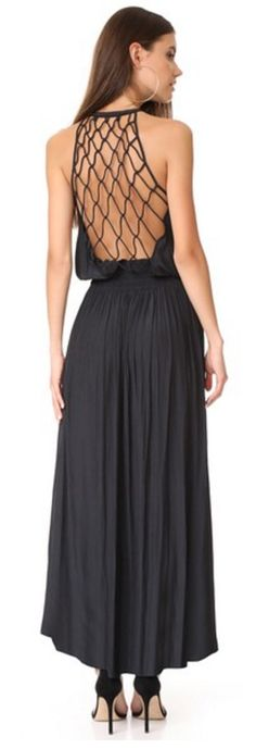 Love the back on this maxi dress