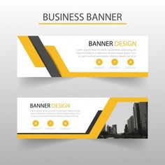 Geometric banners template with yellow shapes Free Vector E-mail Design, Footer Design, Header Design, Layout Design, Roof Design, Vector Design, Graphic Design, Banner Design Inspiration, Web Banner Design