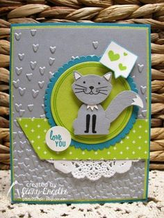 Hey there stampers! It's Create with Connie and Mary  color challenge time! Smokey Slate, Bermuda Bay and Lemon Lime Twist are our trio...