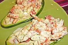 Avocado, mit Krabben gefüllt