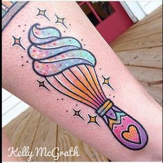 Whisk with Cream tattoo by Kelly McGrath