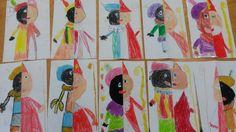 Samen tekenen geeft een Sinterpiet! Groep 4 Wasco
