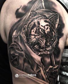 Los tigres de Buharrat. Caballero legionario. Solo aguantaron los más feroces... Mil gracias de nuevo Jose! Eres muy grande! Realizado con @inkjecta y @aloetattoo #inkjecta #aloetattoo #thebestspaintattooartists #thebestbngtattooartists #thebesttattooartists #bnginksociety #tiger #skinartmag #legion #spain #sullenclothing #ink #tattoo #tats #tatuaje #cosafinatattoo #carlosfabra