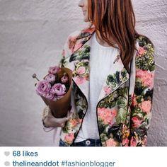 line and dot blazer | shop spring at juxtapose  #regram #lineanddot #floral #prints #spring #shopjuxtaposs #Padgram
