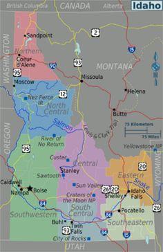 Montana And Idaho Map.Awesome Map Of Montana Wyoming Idaho Tours Maps In 2019