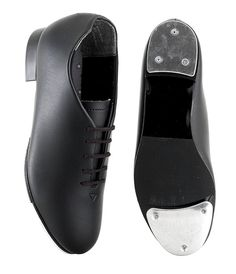 Capezio 442 Tapster Black Tap Shoes. Oxford style synthetic upper, rubber mid sole, fitted with Capezeo standard toe & heel taps. Tap Dance Shoes at www.dancinginthestreet.com