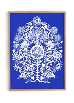 Offset Print. Color BLUE. Without frame Size 50 x 70 cm Edition of 500 pieces Illustrated by Lisa Grue
