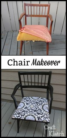 Garbage to Gorgeous Episode #9: Chair Makeover Craft Klatch DIY   Great weekend project and thrifting project!  #howto #diy #diys #craft #crafts #crafting #howto #handmade #homedecor #decor #makeover #makeovers #redo #repurpose #reuse #recycle   #upcycle #upcycling #unique #furniture #furnituremakeover #furnitureredo #thrifting #thriftstore