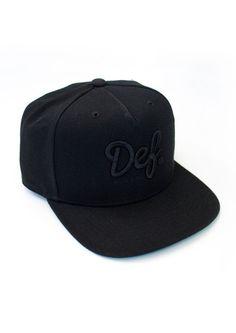 Def Starter Cap Black / Black