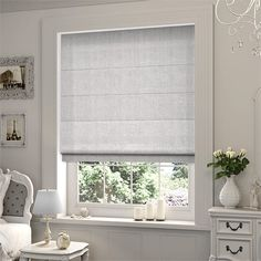 Trendy bedroom ideas grey and white window treatments 59 Ideas House Blinds, Blinds For Windows, Gray Bedroom, Trendy Bedroom, Window Coverings, Window Treatments, Grey Roman Blinds, Roman Shades, Thermal Blinds