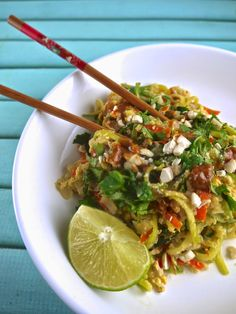 "pad thai with ""zoodles"""