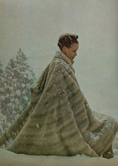 1970s fur cape coat.