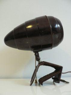 Rare vintage 1940s streamline spot lamp/ 1930s bakelite lamp/ art deco lamp