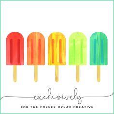 Clip Art Patterns & Printables Coffee Break by Kelly Jane Creative https://www.etsy.com/listing/240453313