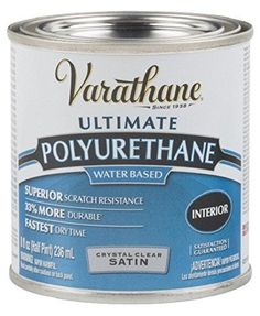 Rust-Oleum Varathane 200261H 1/2-Pint Interior Crystal Cl...