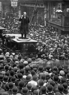 Winston Churchill, British Prime Minister and speaking to a crowd of people in Manchester during his election campaign. Winston Churchill, Churchill Quotes, Strange History, History Facts, British History, American History, Indira Ghandi, British Prime Ministers, Second World