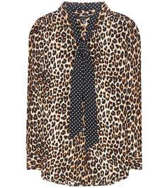 Kate Moss for Equipment - Seidenbluse mit Leopardendruck