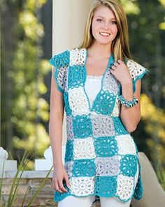 Simple Sensation Top by Marly Bird.  Crochet jumper or vest.  8 ply 245m/100g x 3 in two Mc + 2 in contrast.  5.0mm & 6.0mm hook.  Crochet! Magazine.  Spring 2015.  Saved to Evernote/ iBooks.