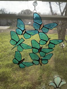 Stained Glass Butterfly Suncatcher by GLASSBYKK on Etsy, $30.00