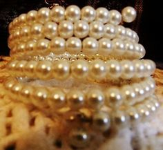 Glass Pearls 6 Rows Coil