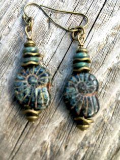 Boho Earrings Tribal Earrings Gypsy by ClayNmetalConnection