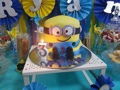 Minion fondant birthday cake