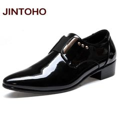 b152116d75 Men Dress Italian Leather Shoes Slip On Fashion Men Leather Moccasin Glitter  Formal Male Shoes Pointed Toe Shoes For Men