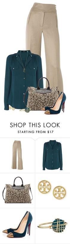 """""""Untitled #2350"""" by jay-to-the-kay ❤ liked on Polyvore featuring Hobbs, Oasis, Sole Society, Tory Burch, Christian Louboutin, Marc by Marc Jacobs and Yves Saint Laurent"""