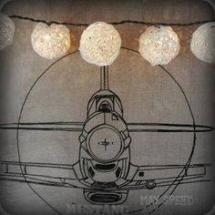 Dollar Tree Balls over lights - great for an urn!