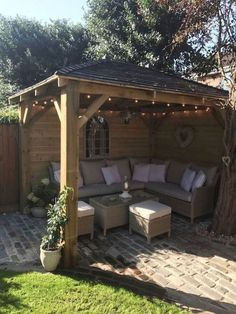 Best Ideas For Backyard Pergola Ideas Patio Design Decor Cozy Backyard, Backyard Seating, Stone Backyard, Garden Seating Areas, Backyard Sitting Areas, Backyard Retreat, Corner Garden Seating, Desert Backyard, Backyard Storage