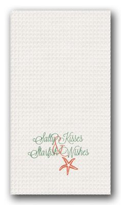 Salty Kisses Starfish Wishes Kitchen Towel