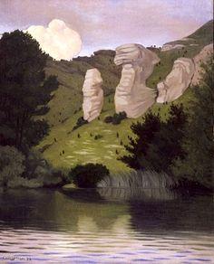 La Seine à Tournedos, 1922 / Félix Vallotton