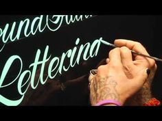 Roundhand Lettering Demo by Glen Weisgerber - YouTube