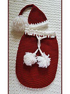 Crochet - Children & Baby Patterns - Cocoon Patterns - Santa Baby Cocoon Christmas Set