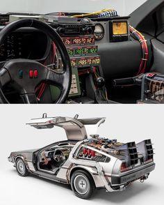 DeLorean Time Machine - These Sci-Fi Movie Cars Are Super Rad - Motorrad Dmc Delorean, Delorean Time Machine, The Time Machine, Back To The Future, Future Car, My Dream Car, Dream Cars, Hot Wheels, Ford Classic Cars
