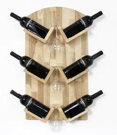 Wooden Wine Holder, Wood Wine Bottle Holder, Rustic Wine Racks, Wine Glass Rack, Wine Rack Wall, Wine Holders, Diy Wine Racks, Wine Rack Design, Gifts For Wine Lovers
