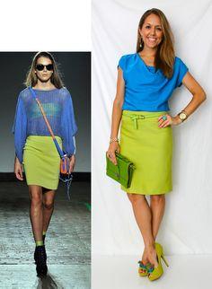 I love this colour combination... I love colours!